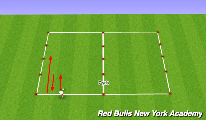 Football/Soccer Session Plan Drill (Colour): Dribbling with turning (big and small touches)