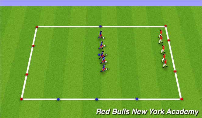 Football/Soccer Session Plan Drill (Colour): techincal 1v1