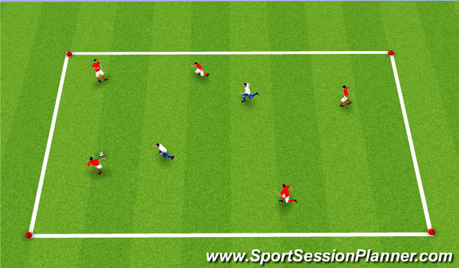 Football/Soccer Session Plan Drill (Colour): Upphitun3: