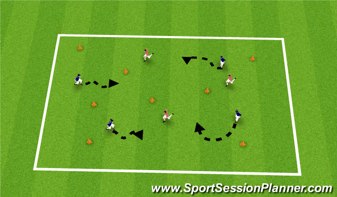 Football/Soccer Session Plan Drill (Colour): Fix it