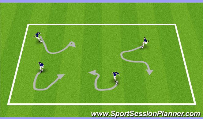 Football/Soccer Session Plan Drill (Colour): Red light, green light