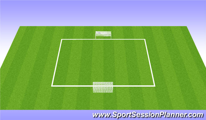 Football/Soccer Session Plan Drill (Colour): Striking the Ball - Shooting - Game