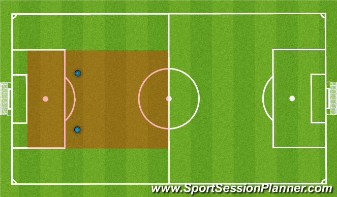 Football/Soccer Session Plan Drill (Colour): Defence