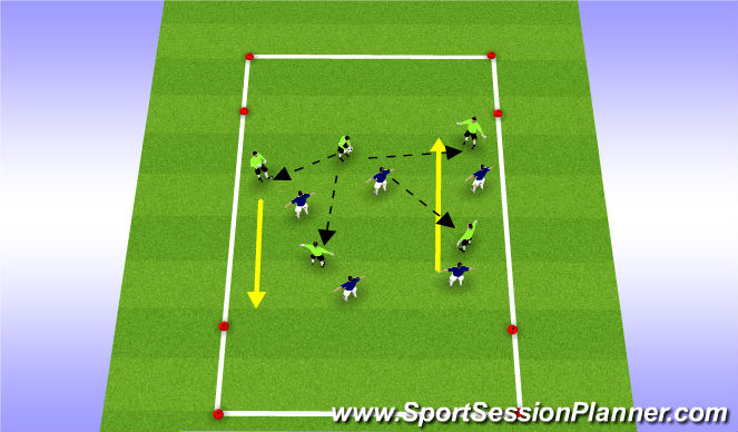 Football/Soccer Session Plan Drill (Colour): Warm Up- Handball