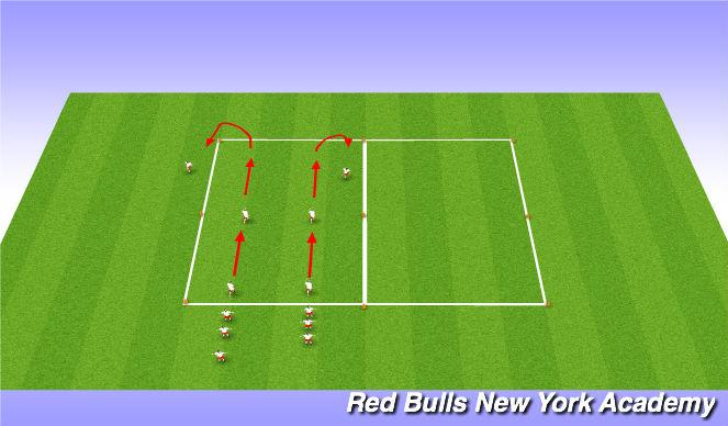 Football/Soccer Session Plan Drill (Colour): SAQ Dynamic Stretching