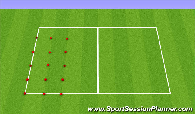 Football/Soccer Session Plan Drill (Colour): Station 1: Stop n Starts
