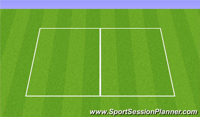 Football/Soccer Session Plan Drill (Colour): Station 5: Mini ball technical warm-up