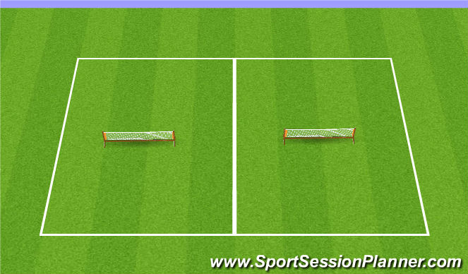 Football/Soccer Session Plan Drill (Colour): Optional: Soccer Tennis Warm-up