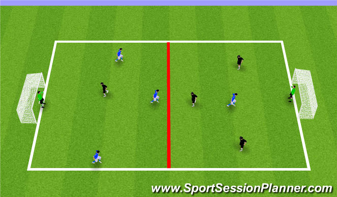 Football/Soccer Session Plan Drill (Colour): Long range shooting 3v1