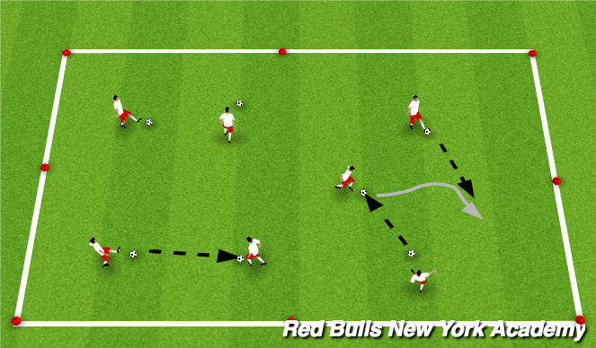 Football/Soccer Session Plan Drill (Colour): Hit the moving target