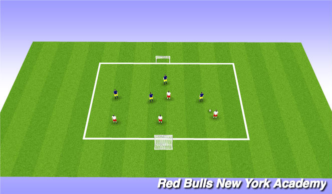 Football/Soccer Session Plan Drill (Colour): Free Game (Mini Tournament)
