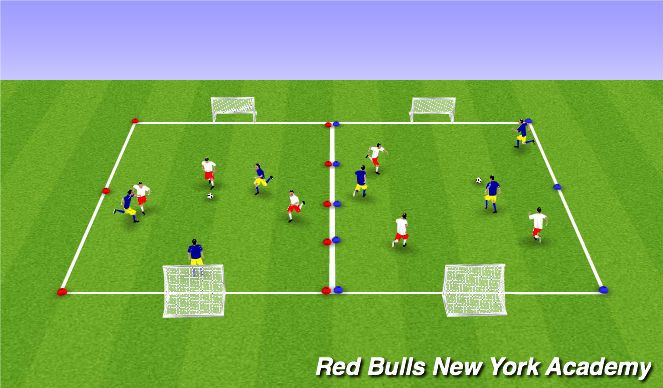 Football/Soccer Session Plan Drill (Colour): Champions