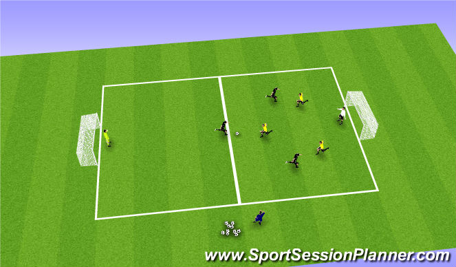 Football/Soccer Session Plan Drill (Colour): 4v4 Conditioning Game (Overload Fitness)