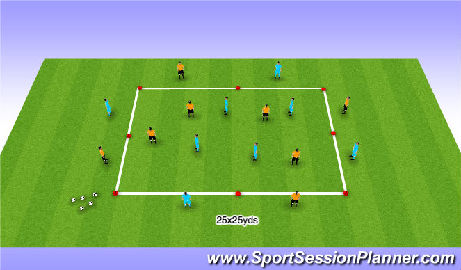 Football/Soccer Session Plan Drill (Colour): Possession 1 - Burnley