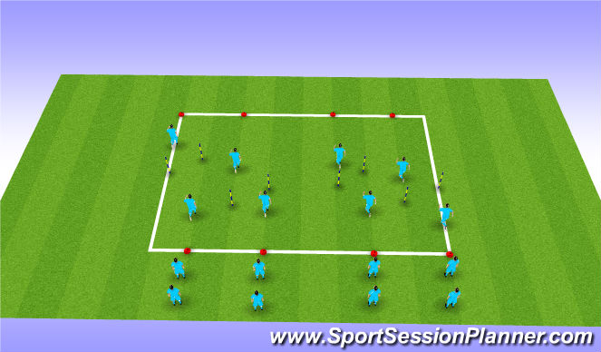 Football/Soccer Session Plan Drill (Colour): Running Drill