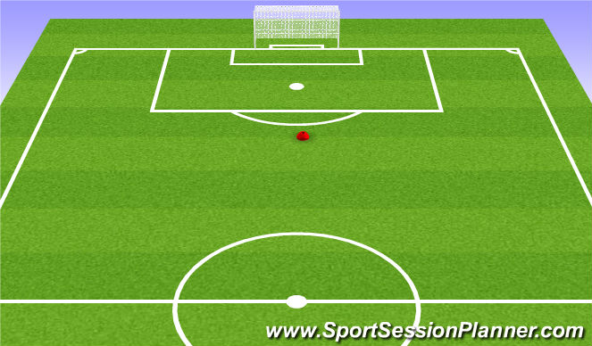 Football/Soccer Session Plan Drill (Colour): Cross Bar Challenge