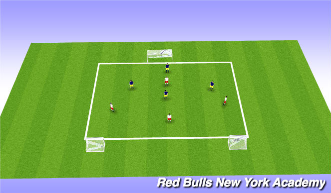 Football/Soccer Session Plan Drill (Colour): Free play at goal