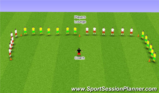 Football/Soccer Session Plan Drill (Colour): Players Lounge