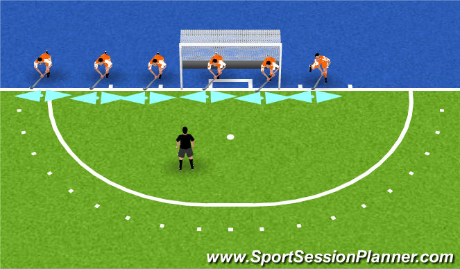 Hockey Session Plan Drill (Colour): juiste grip!