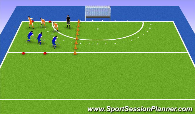 Hockey Session Plan Drill (Colour): inleiding wedstrijd