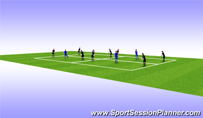 Football/Soccer Session Plan Drill (Colour): Static Control