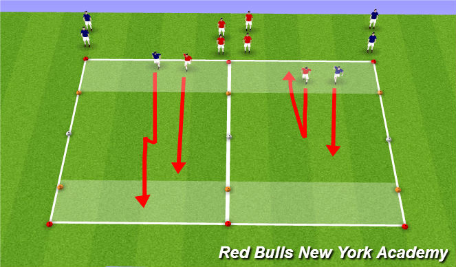 Football/Soccer Session Plan Drill (Colour): CHange Speed/Direction