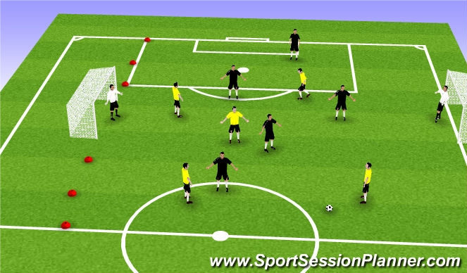 Football/Soccer Session Plan Drill (Colour): 6v6smg