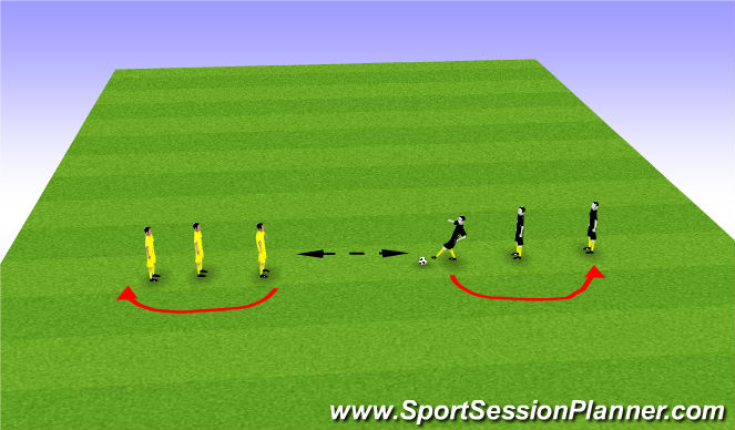 Football/Soccer Session Plan Drill (Colour): Ping Passing