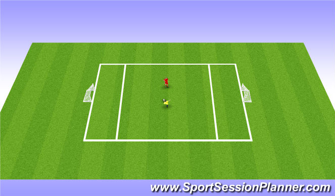 Football/Soccer Session Plan Drill (Colour): 1v1 - Skill Intro