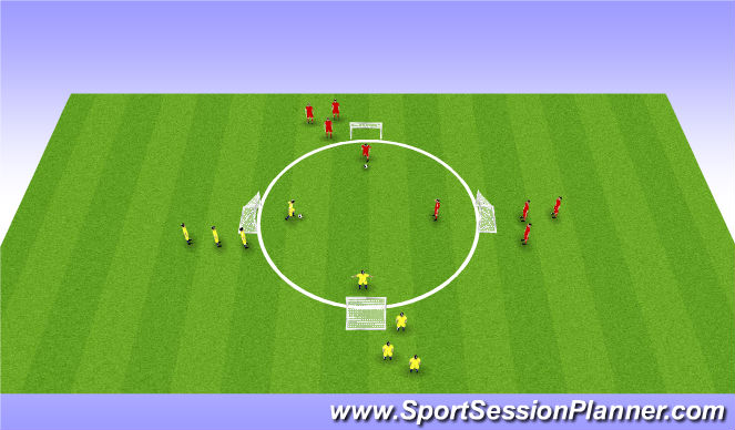 Football/Soccer Session Plan Drill (Colour): 1v1 - Skill Intro P2