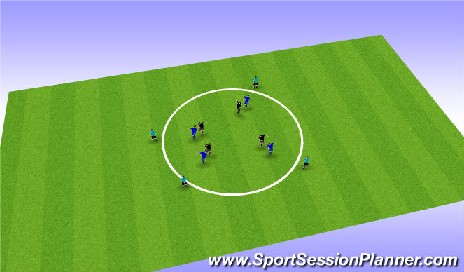 Football/Soccer Session Plan Drill (Colour): oposed