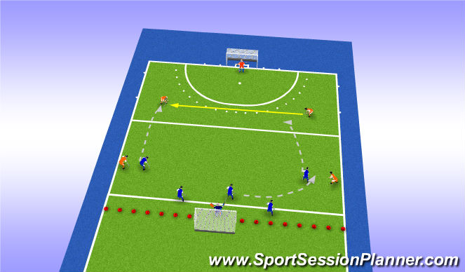 Hockey Session Plan Drill (Colour): Press naarden