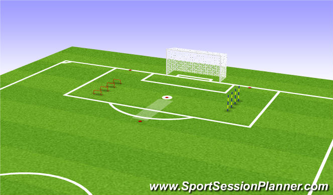 Football/Soccer Session Plan Drill (Colour): Physical development