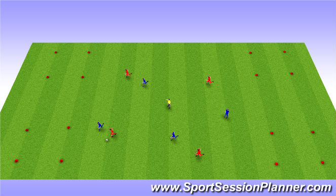 Football/Soccer Session Plan Drill (Colour): SSG into corners