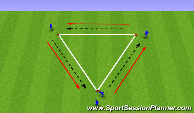 Football/Soccer Session Plan Drill (Colour): Triangle Patterns