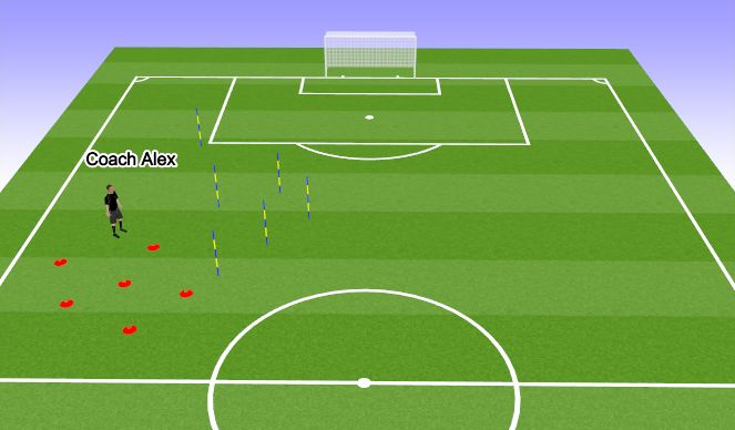 Football/Soccer Session Plan Drill (Colour): 3 v 1's