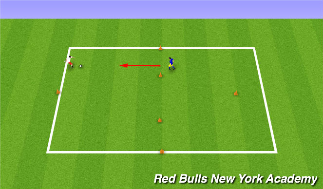 Football/Soccer Session Plan Drill (Colour): Motor Skills