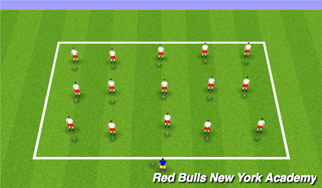 Football/Soccer Session Plan Drill (Colour): Ball Mastery to Music