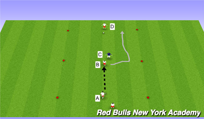 Football/Soccer Session Plan Drill (Colour): Semi-opposed.
