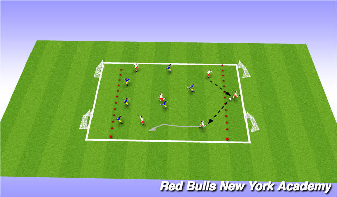 Football/Soccer Session Plan Drill (Colour): Game condition