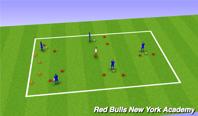 Football/Soccer Session Plan Drill (Colour): SPEEDWAY