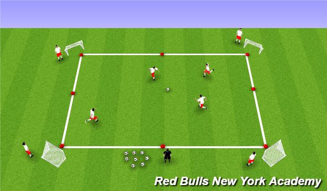 Football/Soccer Session Plan Drill (Colour): Battle Ships