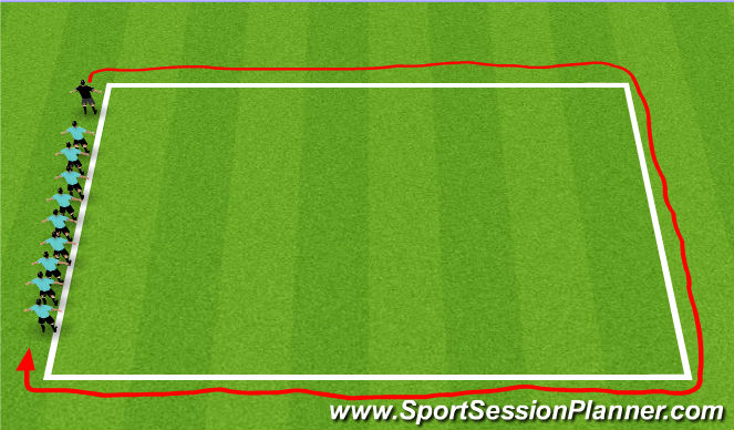 Football/Soccer Session Plan Drill (Colour): Defining The Boundaries