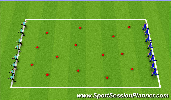 Football/Soccer Session Plan Drill (Colour): Builder and Bashers
