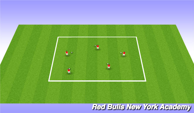 Football/Soccer Session Plan Drill (Colour): Cruyff whlle moving