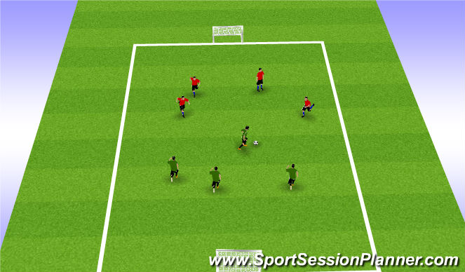 Football/Soccer Session Plan Drill (Colour): Short Sided Game