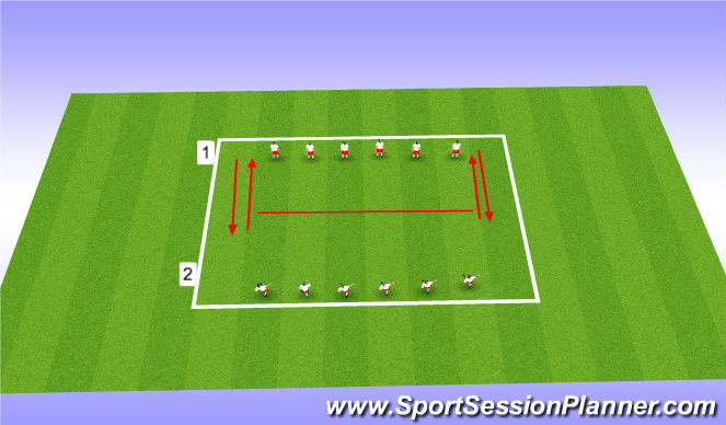 Football/Soccer Session Plan Drill (Colour): Blocked