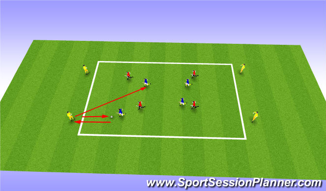 Football/Soccer Session Plan Drill (Colour): posession warm up game