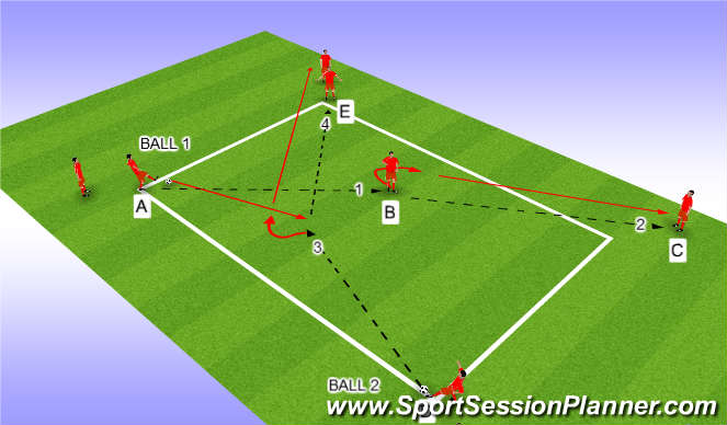Football/Soccer Session Plan Drill (Colour): 1 'diag'