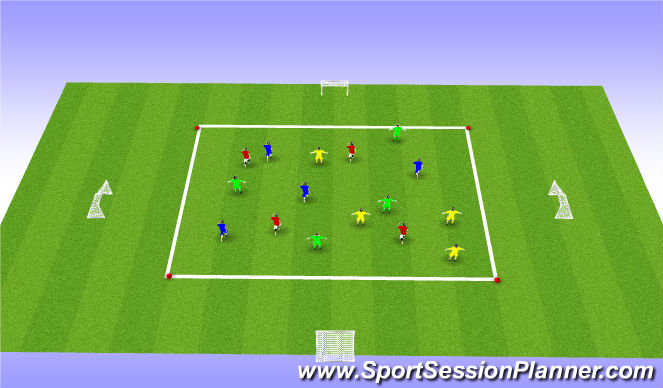 Football/Soccer Session Plan Drill (Colour): Shooting Galore